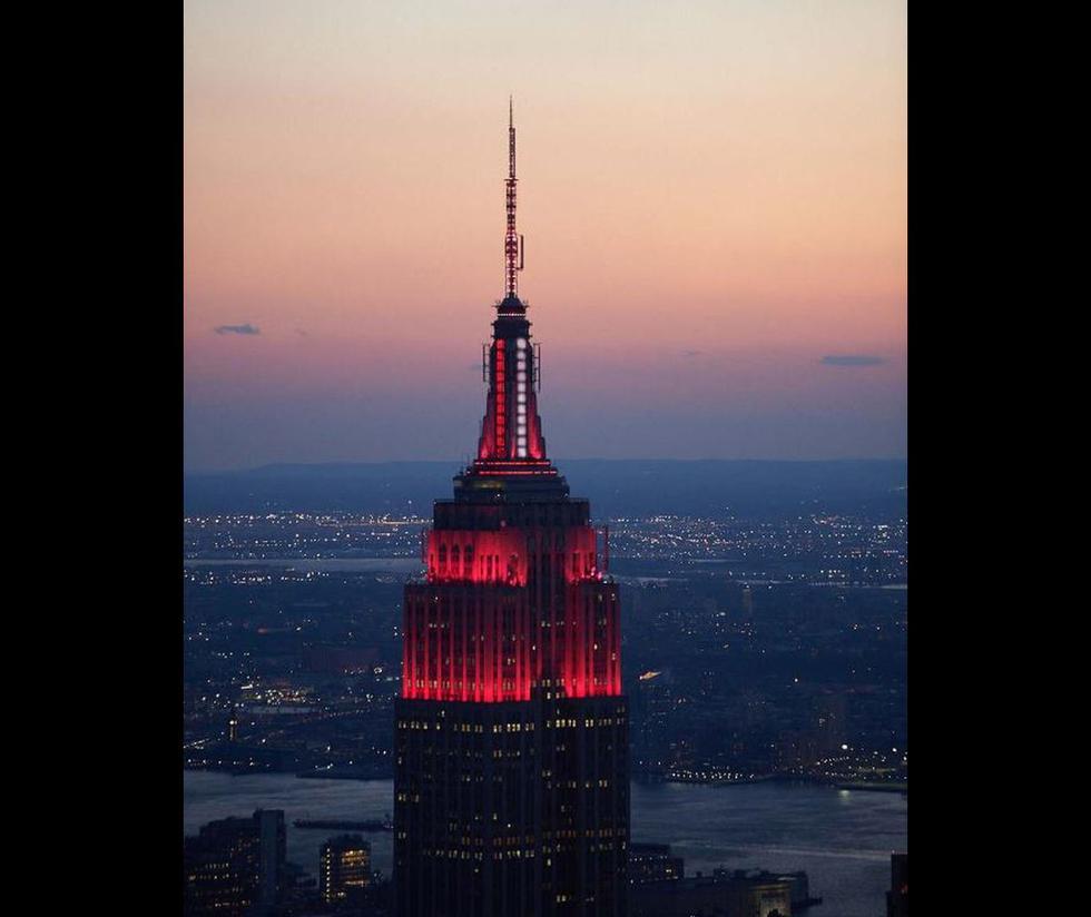 El emblemático Empire State Building es un rascacielos situado en la ciudad de Nueva York, Estados Unidos. (Foto: Twitter/@EmpireStateBldg)