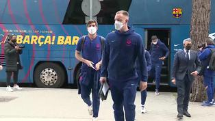 Barça llega a Madrid para disputar el clásico de la Liga