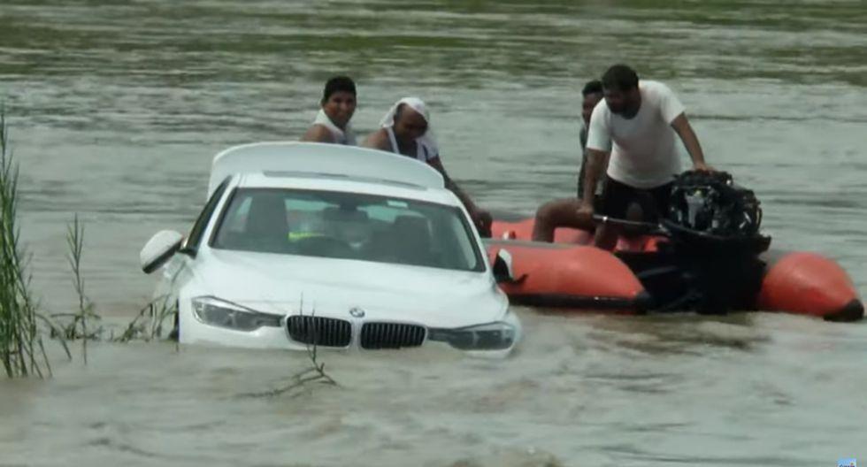 Tiró a un río el BMW que le habían regalado sus padres porque quería un Jaguar. Foto: Captura de video