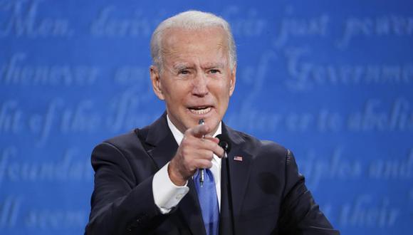 Joe Biden participa en el último debate antes de las elecciones del 3 de noviembre. (Foto: EFE/EPA/SHAWN THEW)