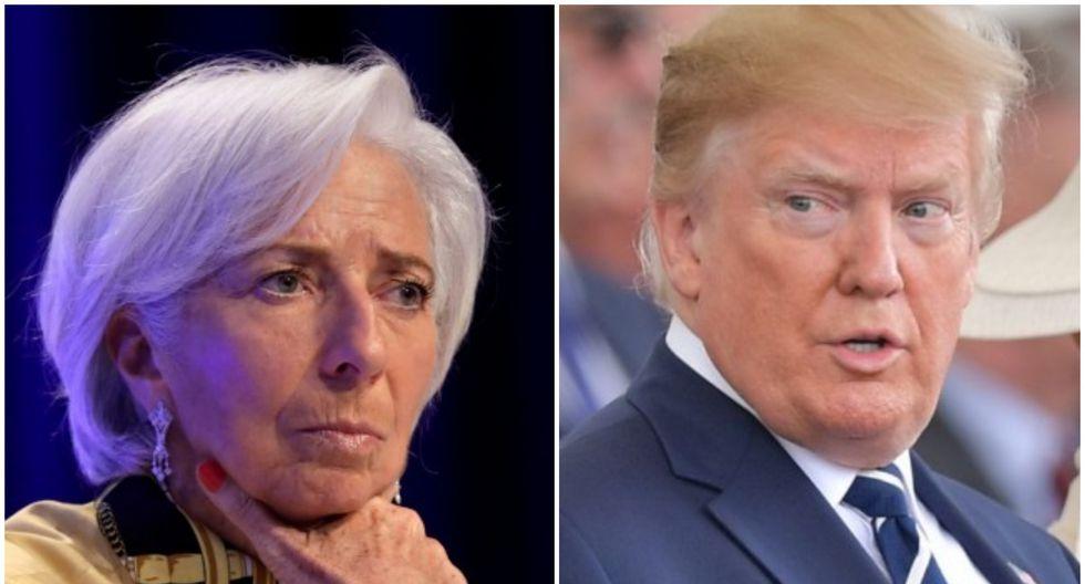 """Lagarde reiteró que """"nadie gana una guerra comercial"""" al subrayar que todas las partes implicadas """"sufren""""."""