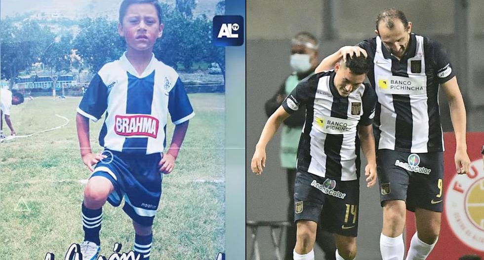De niño, siempre hincha de Alianza. De 20 años, el héroe del clásico: Axel Moyano. (Foto: Captura Alianza TV / Liga 1)
