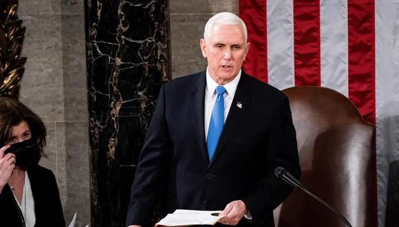 """El vicepresidente Mike Pence condenó la violencia registrada durante el asalto al Capitolio y espetó a los seguidores del presidente Donald Trump que protagonizaron la insurrección: """"No han ganado"""". (EFE/EPA/Erin Schaff)."""