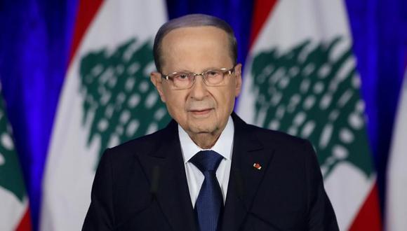 El presidente de Líbano, Michel Aoun, no aceptará investigaciones internacionales sobre las explosiones en Beirut. (Foto de archivo: Reuters)