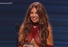 Grammy Latino 2019: Thalía y el atrevido vestido con el que recibió su Premio de la Presidencia