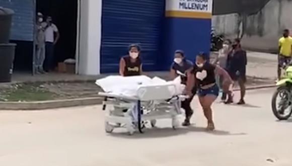 El Hospital San Rafael de Fundación emitió un comunicado en el cual rechazó el accionar de la familia del fallecido y lo tachó como un acto delictivo. (Foto: Captura de video).