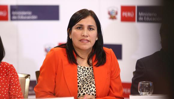 Ministra Flor Pablo opinó sobre el caso Telesup. (Foto: GEC)