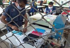 Coronavirus en Perú: internos del penal de Chincha confeccionan mascarillas ante demanda de empresa privada