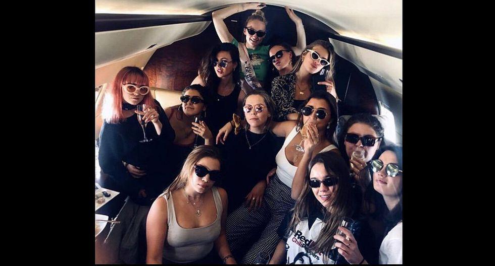 Así fue la despedida de soltera de Sophie Turner con Maisie Williams y sus amigas. (Foto: Instagram)