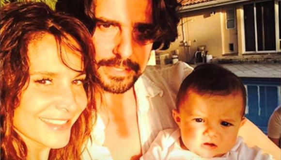 Lorena Rojas junto a su esposo Jorge Monje y su pequeña Luciana (Foto: Captura de Ventaneando / Televisión Azteca)