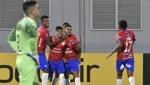 Wilstermann le volteó el partido a Peñarol con tantos de Melgar (11′, penal) y doblete de Patricio Rodríguez (45′, 53′) en la Copa Libertadores 2020. (Foto: AFP)