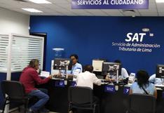 SAT Lima ofrece descuentos para contribuyentes de entre 45% y 95% hasta el 18 de agosto