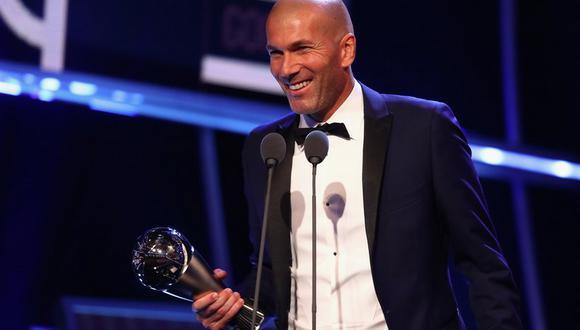 Zinedine Zidane consiguió el premio The Best al mejor entrenador de la temporada. Su última campaña con el Real Madrid fue sensacional. Destacó la obtención de la Champions League. (Foto: AFP)