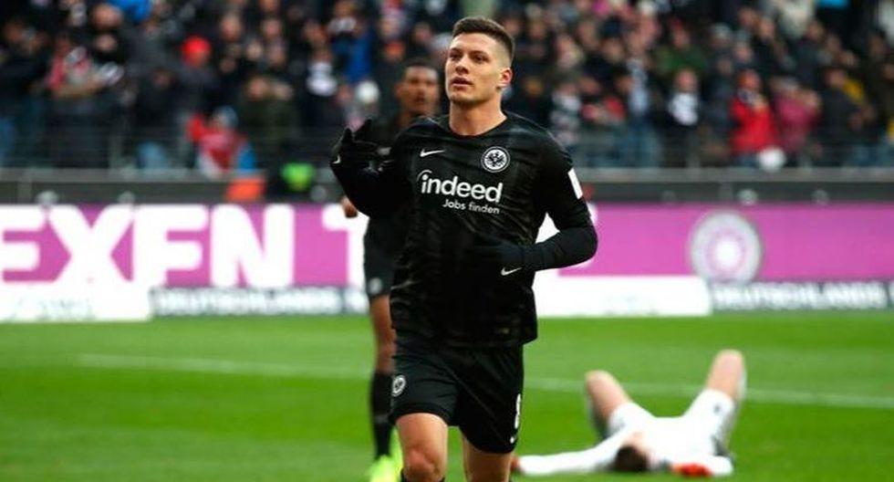 Luka Jovic - Eintracht. (Foto: AFP).