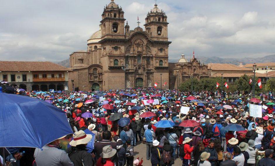 Según fuentes del Minedu, un 75% de maestros no acata la huelga nacional de maestros. A la fecha, el paro acatado en 15 regiones del páis se siente con más intensidad en Cusco, Puno, Madre de Dios, Apurímac, Lima Provincias y Moquegua (Foto: Miguel Neyra)