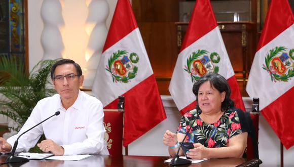 Ariela Luna y Martín Vizcarra detallaron que Qali Warma beneficiará a más de un millón de escolares. (Foto: Difusión9