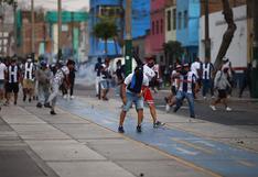 Joven resultó herido tras enfrentamientos entre hinchas de Alianza Lima y policías