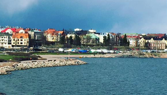 Vista a la orilla del Mar Báltico