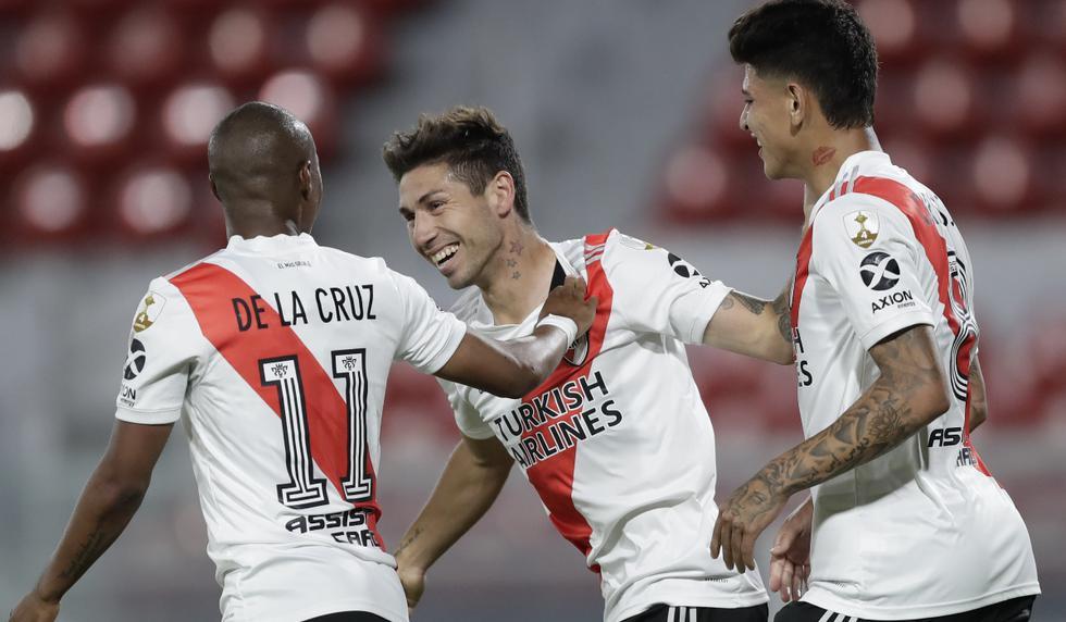 River Plate y Nacional se enfrentaron en el partido de ida por los cuartos de final de la Copa Libertadores | Foto: AP