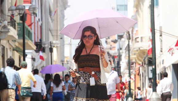 Hoy se registró la temperatura más alta en lo que va del verano en la capital. (Foto: GEC)