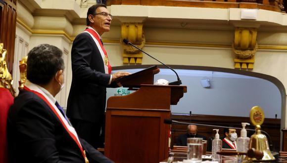 Presidente Vizcarra anuncia aprobación de una pensión de orfandad para menores que quedaron huérfanos durante la pandemia por el COVID-19.  (Foto: Presidencia de la República)
