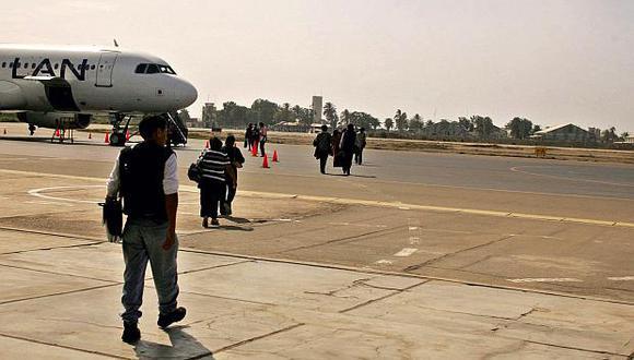 Los trabajos de mejora en el aeropuerto de Chiclayo iniciarán en enero del 2019 y se prolongarán aproximadamente por 18 meses. (Foto: El Comercio)