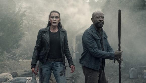 """Morgan y Alicia Clark están listos para acabar con una horda de walkers en las fotos de la cuarta temporada de """"Fear the Walking Dead"""" (Foto: AMC)"""