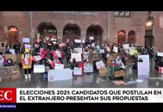 Elecciones 2021: candidatos en el extranjero presentan sus propuestas