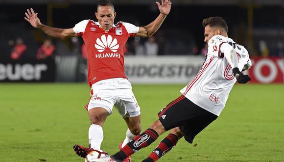 Santa Fe empató 0-0 con Flamengo en Colombia por la Copa Libertadores. (Foto: Agencias)