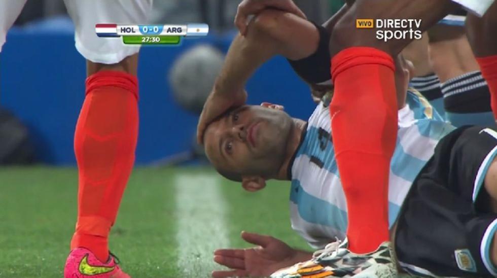 Holanda vs. Argentina: Mascherano y el golpe que asustó a todos - 1