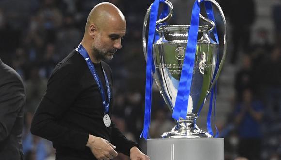 Pep Guardiola perdió su primera final como DT de Manchester City. (Foto: REUTERS)