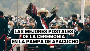 Mira las mejores postales de la ceremonia simbólica en la pampa de Ayacucho