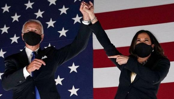 Joe Biden y Kamala Harris asumen sus nuevos cargos este 20 de enero. (Getty Images).