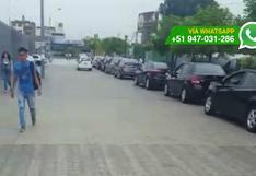 WhatsApp: paseo peatonal es convertido en estacionamiento