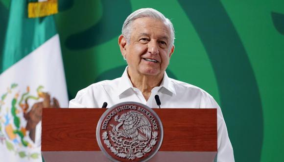 El mandatario mexicano, Andrés Manuel López Obrador, durante una rueda de prensa en el municipio de Puerto Vallarta, en Jalisco (México). (Foto: EFE/Presidencia de México)