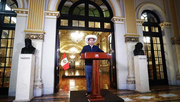 El mandatario Castillo Terrones dio ayer su primer mensaje al país desde que asumió el cargo. (Foto: Presidencia)