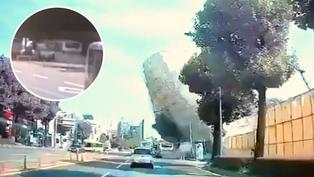 Corea del Sur: Edificio se derrumba y aplasta bus de servicio público
