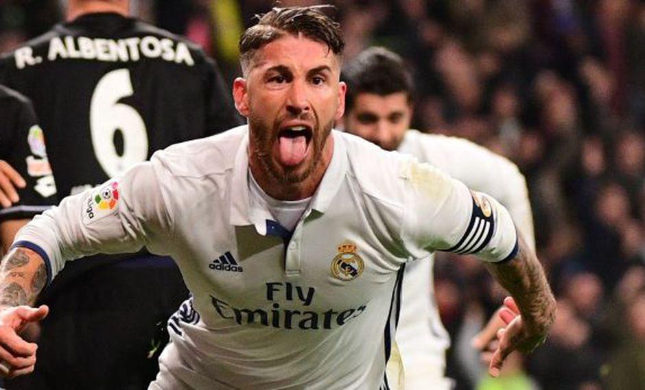 La eufórica narración del gol de Sergio Ramos en la TV inglesa