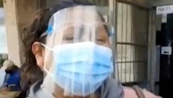 La madre y su hijo arribaron a la Ciudad Blanca en busca de ayuda procedentes de la región Madre de Dios. (Captura RPP TV)