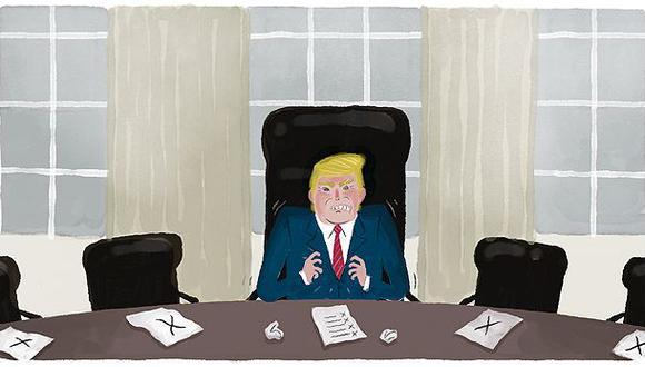 """""""Muchos de los seguidores de Trump continúan apoyando su marco de acción"""". (Ilustración: Víctor Aguilar Rúa)"""