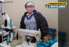 La costurera que combate la contaminación fabricando mascarillas reutilizables