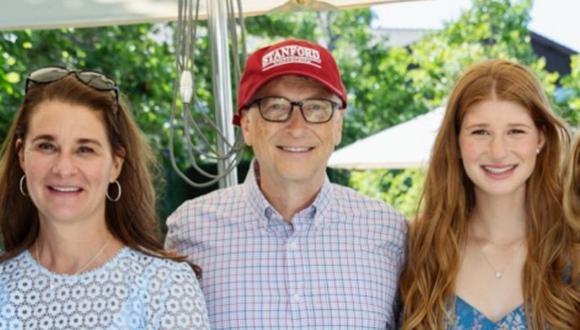 Melinda, Bill y Jennifer Gates. (Foto: Instagram)