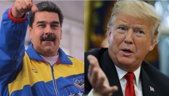 Maduro y Trump han tenido continuos cruces de acusaciones en los últimos meses. | Foto: Twitter @VTVcanal 8 / AP