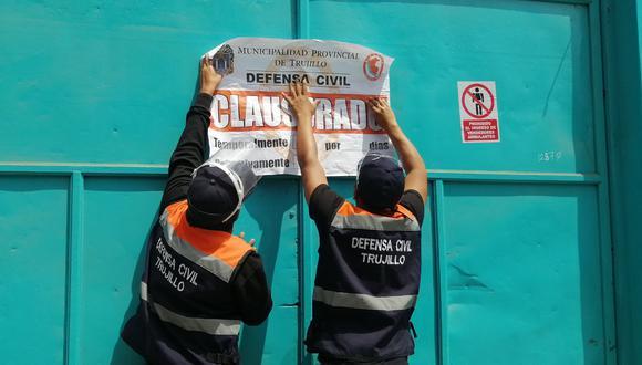 La municipalidad de Trujillo informó que la empresa seguía operando pese a que había sido clausurada   Foto: Municipalidad Provincial de Trujillo