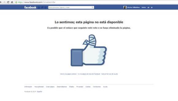 Desde hace unas horas la cuenta de Facebook de la congresista Cenaida Uribe ya no está disponible