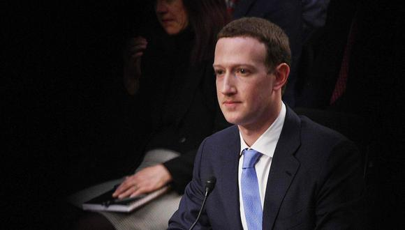 El fundador de Facebook, Mark Zuckerberg, testifica ante el Congreso de Estados Unidos. (Foto: AFP/Jim Watson)