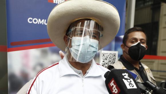 Pedro Castillo indicó que es respetuoso de la institucionalidad. (Foto: Archivo de GEC)