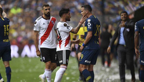 La segunda final de Copa Libertadores 2018 entre River Plate y Boca Juniors deja enfrentamientos individuales más que interesantes para este sábado en el Monumental. (Foto: AFP)