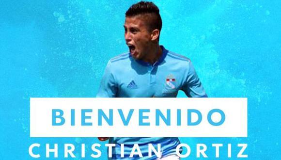 Christian Ortiz es el nuevo refuerzo de Sporting Cristal. (Foto: Sporting Cristal)