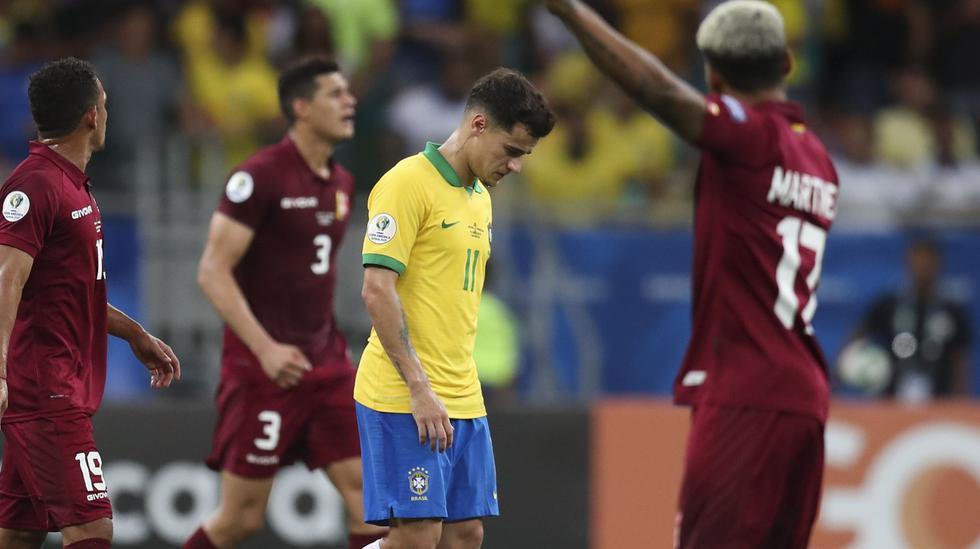 Brasil vs. Venezuela: Philippe Coutinho anotó, pero árbitro anuló el tanto tras revisión del VAR | VIDEO. (Foto: AFP)